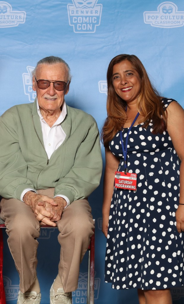 Stan Lee and Amalie Howard